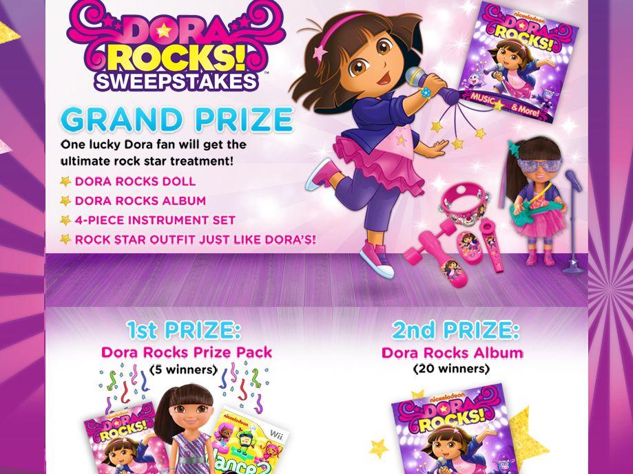 Dora Rocks Sweepstakes