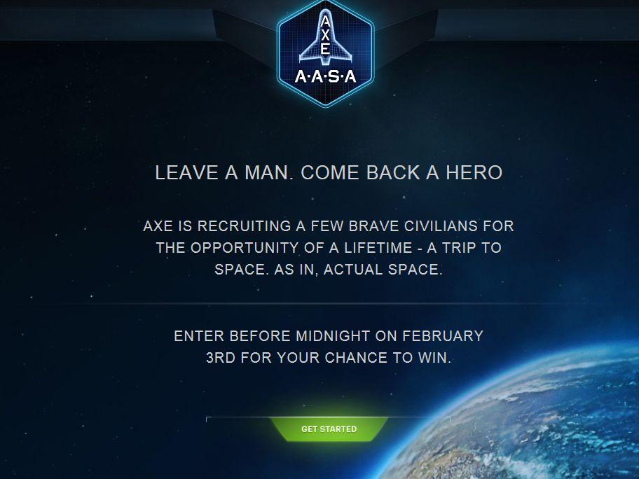 AXE Apollo Big Game Sweepstakes