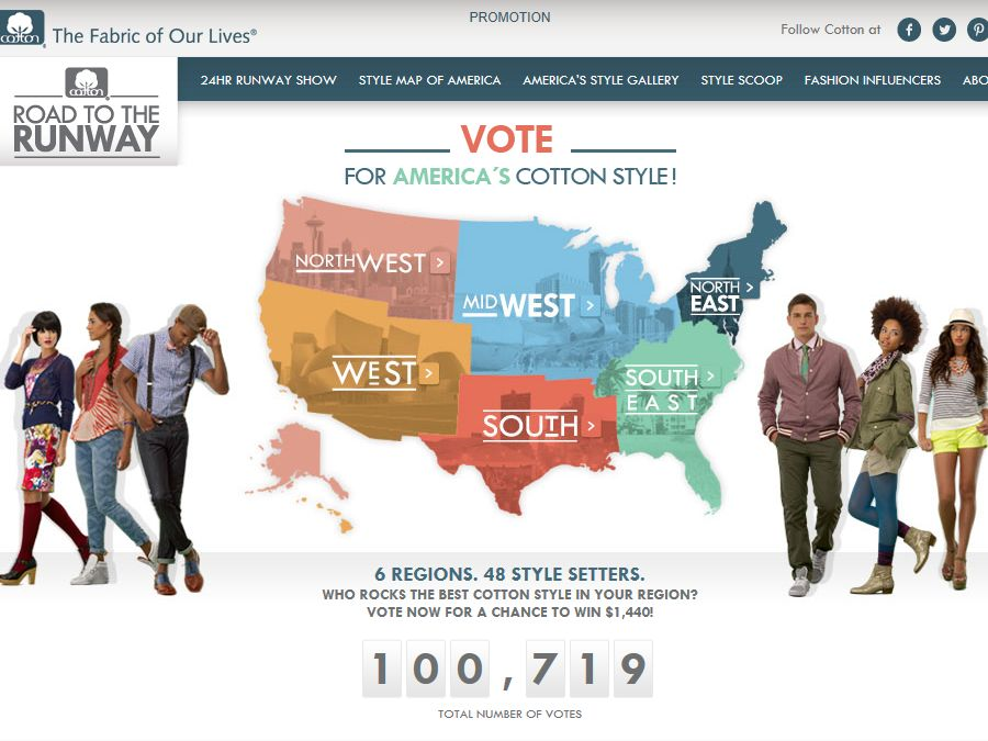 Road to the Runway Voter Sweepstakes