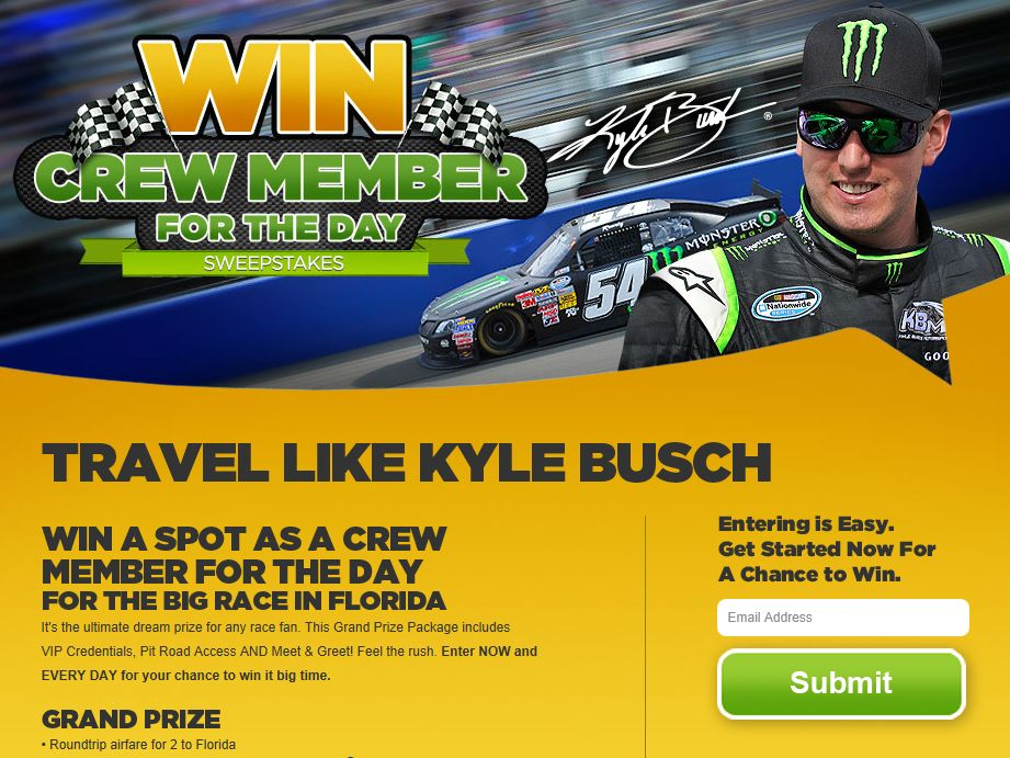 Crew Member for the Day Sweepstakes