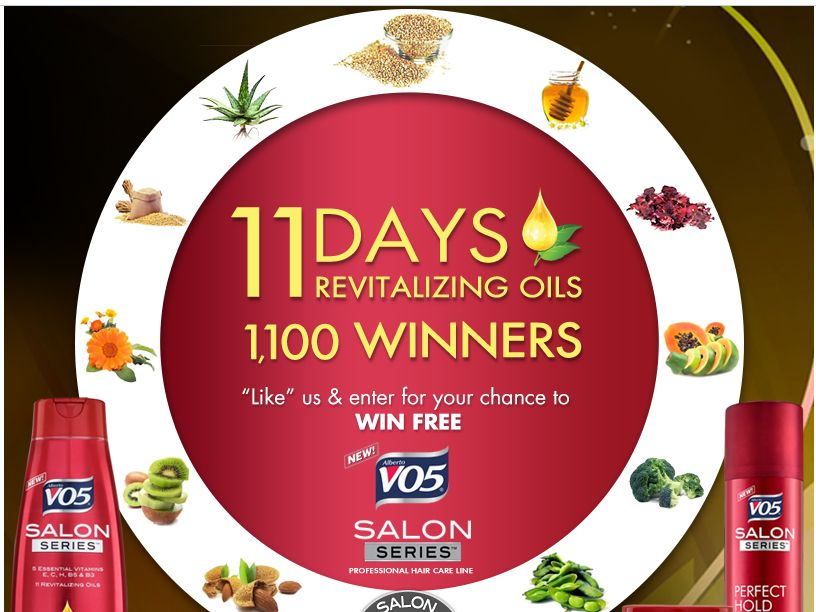 11-Day Free VO5 Salon Series Giveaway