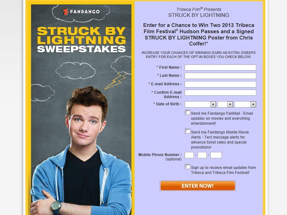 Fandango Struck By Lightning Sweepstakes