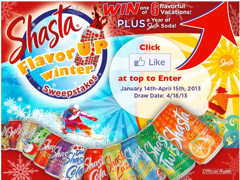 Shasta Flavor Up Winter Sweepstakes
