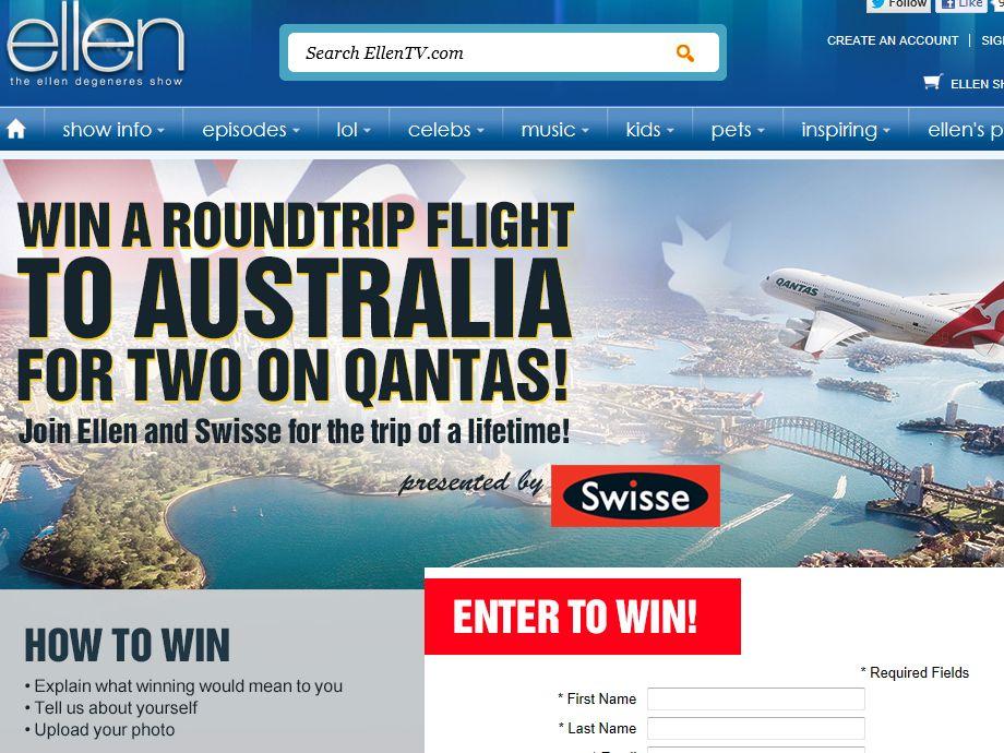 Ellen Show Win a Trip for Two to Australia Contest
