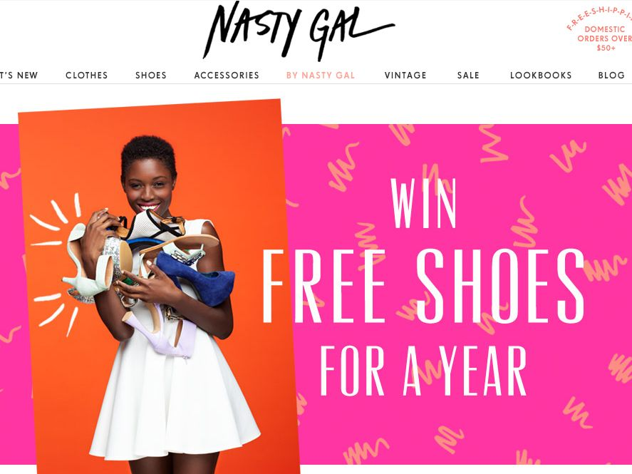 Nasty Gal Shoes For A Year Sweepstakes