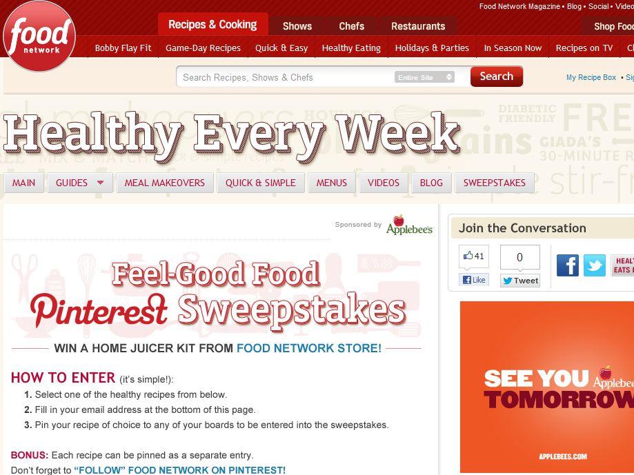 Food Network Feel-Good Food Sweepstakes