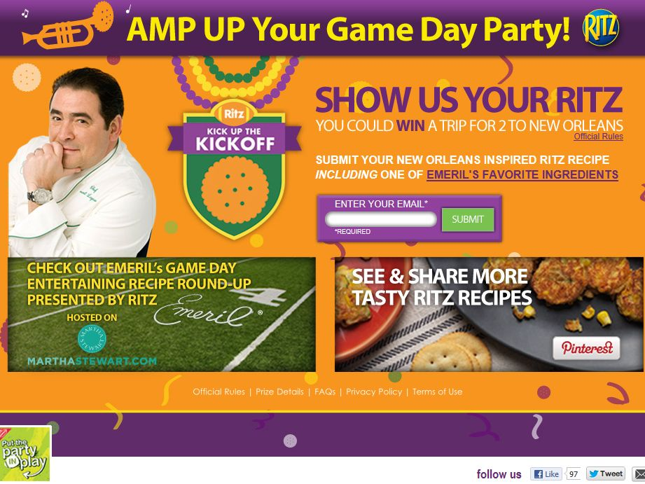 Ritz Kick up the Kickoff Sweepstakes