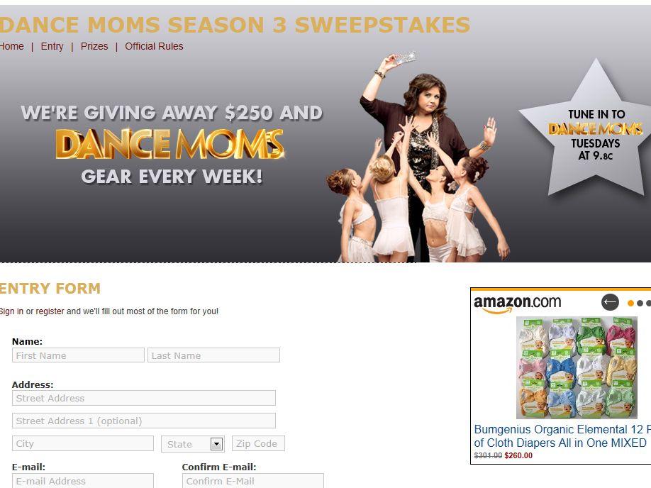 Dance Moms Season 3 Sweepstakes