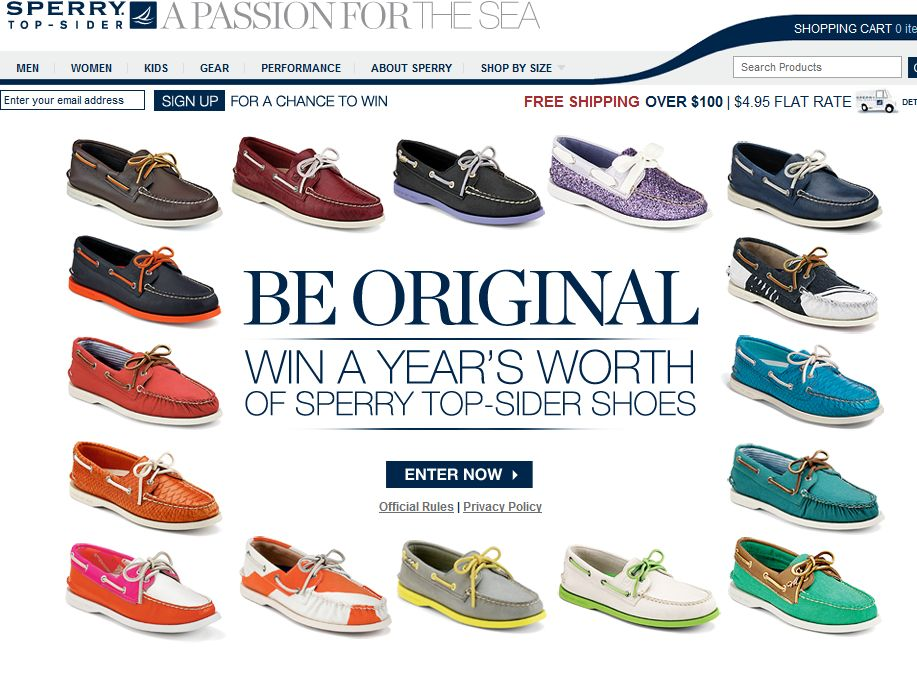 Sperry Top-Sider Be Original: Win A Year's Worth of Sperry Top-Sider Shoes Sweepstakes