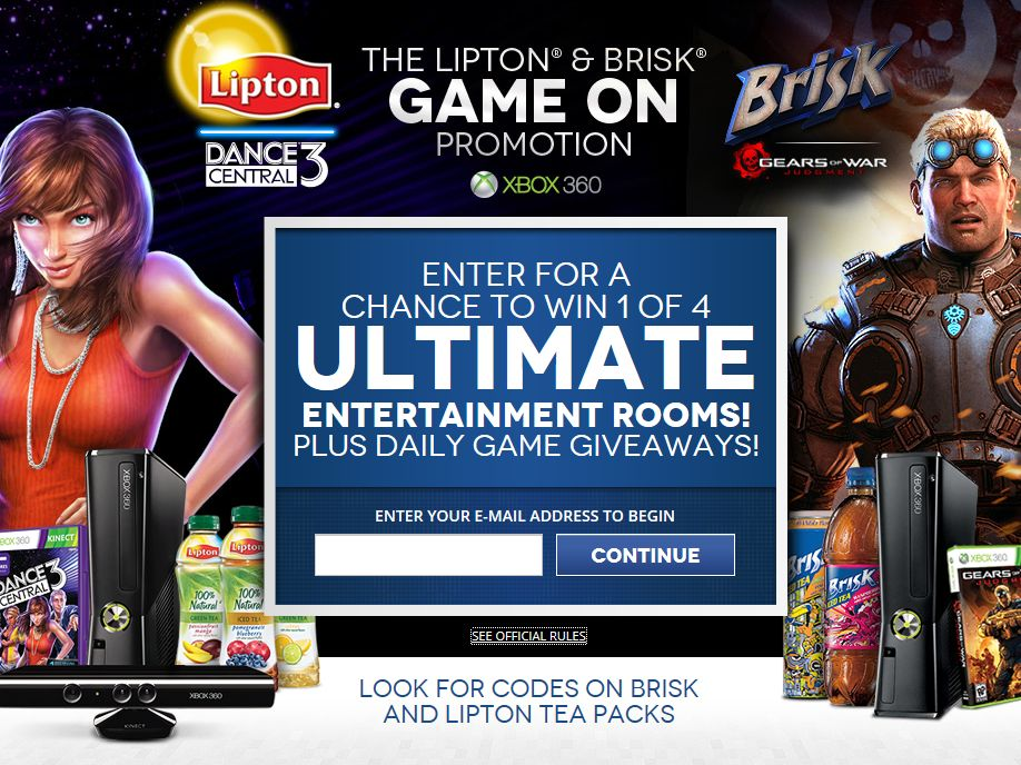 Lipton Iced Tea Dance Central 3 and Brisk Gears of War: Judgment Sweepstakes