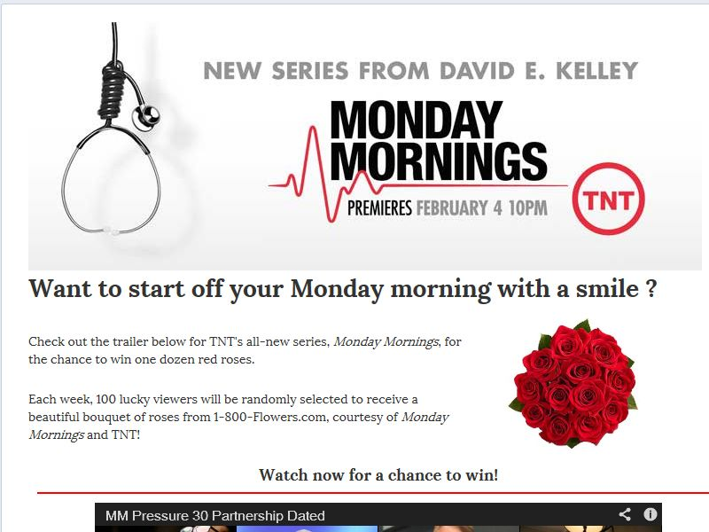 1-800-Flowers.com Cheer-up Monday Sweepstakes