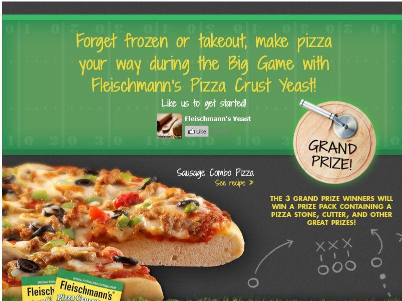 Fleischmann's Pizza Crust Yeast Sweepstakes