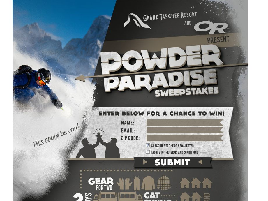 PowderParadiseGiveaway 2013 Sweepstakes
