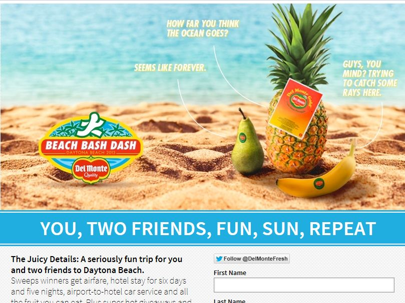 Del Monte Spring Break Beach Bash Dash Sweepstakes