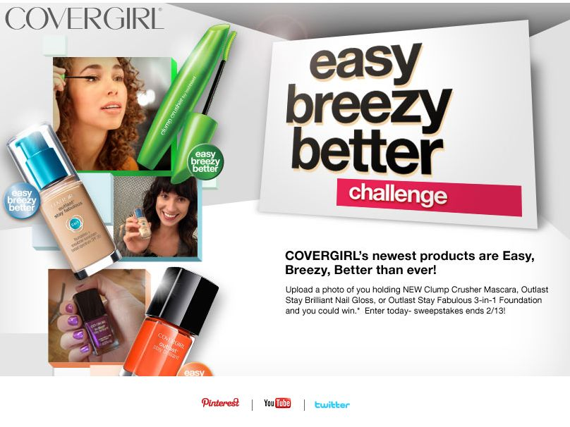 CoverGirl Easy Breeze Better Sweepstakes