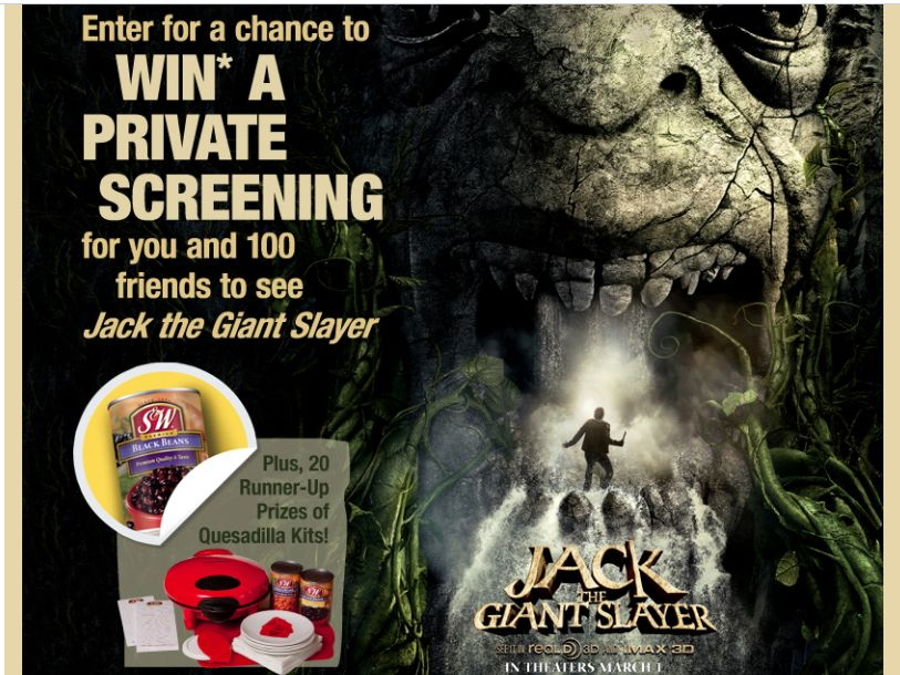 Faribault Foods, Inc. S&W Beans Dinner and a Movie Sweepstakes