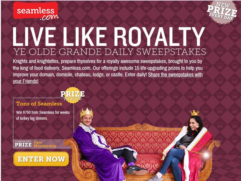 Seamless Live Like Royalty Sweepstakes