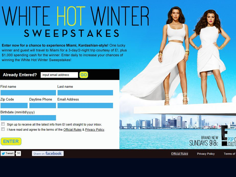 White Hot Winter Sweepstakes
