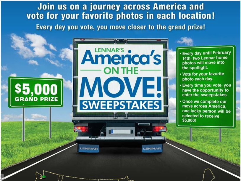 Lenner's America's On The Move Sweepstakes
