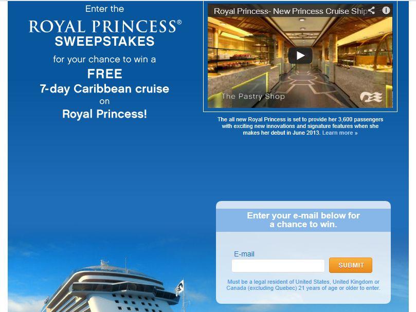 Royal Princess Sweepstakes