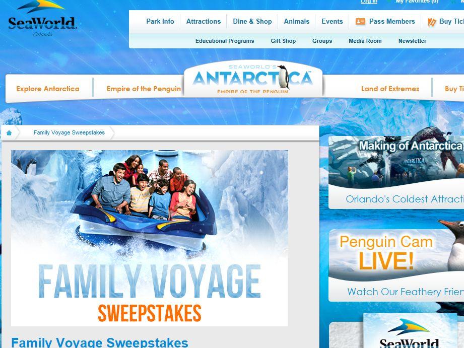 SeaWorld Orlando Antarctica Family Voyage Sweepstakes