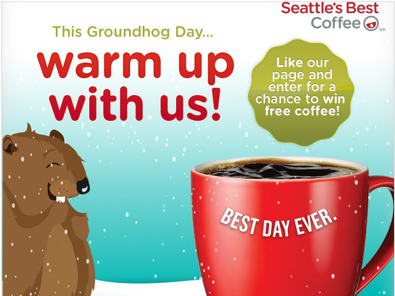 Seattle's Best Coffee Groundhog Day Forecast Sweepstakes