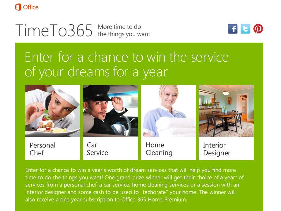 Microsoft Time To 365 Sweepstakes