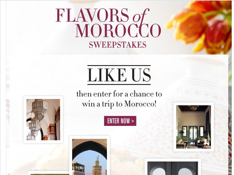 Williams-Sonoma Flavors of Morocco Sweepstakes