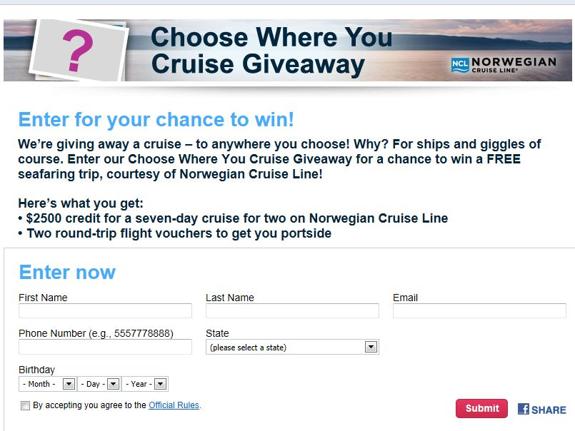 Orbitz Choose Where You Cruise Giveaway