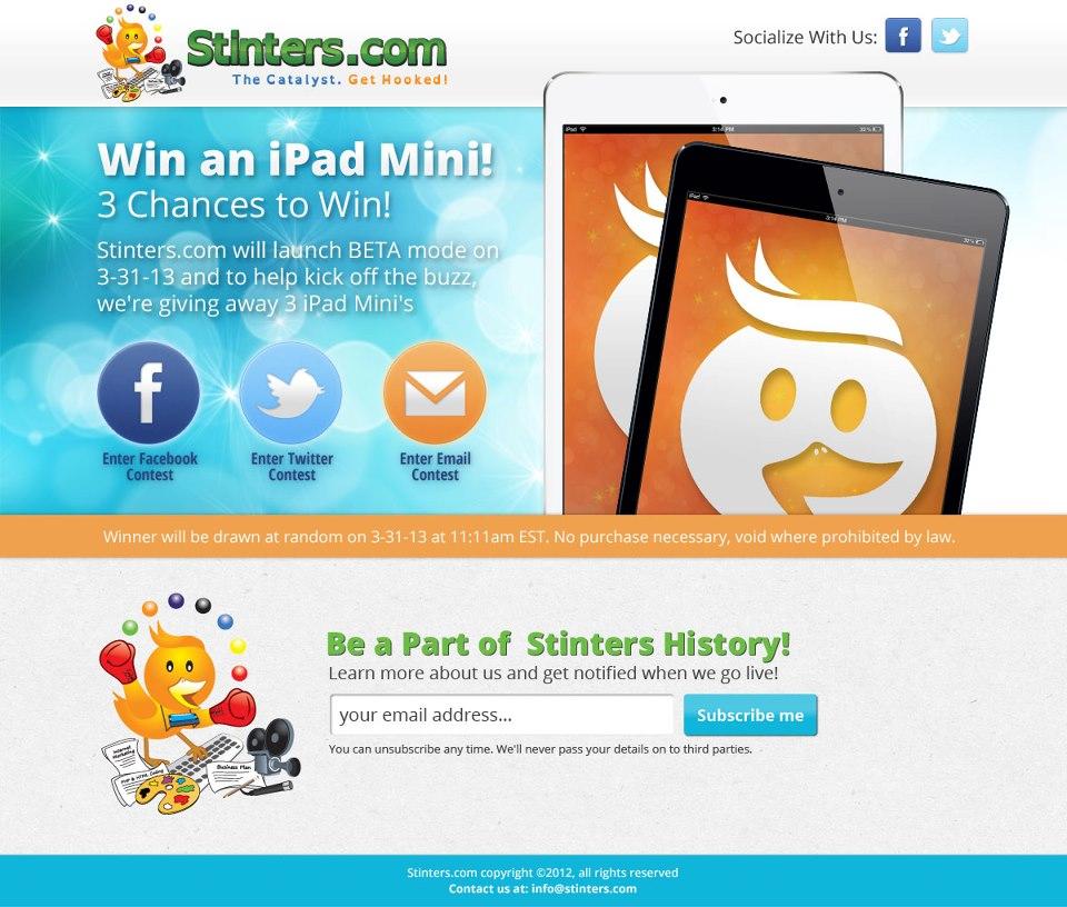 iPad Mini Giveaway From Stinters