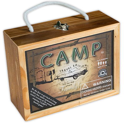 Enter to win  A Copy Of THE CAMP Travel Game
