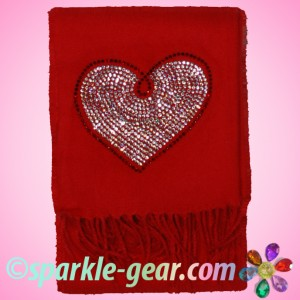 Big Bling Heart Red Scarf Giveaway