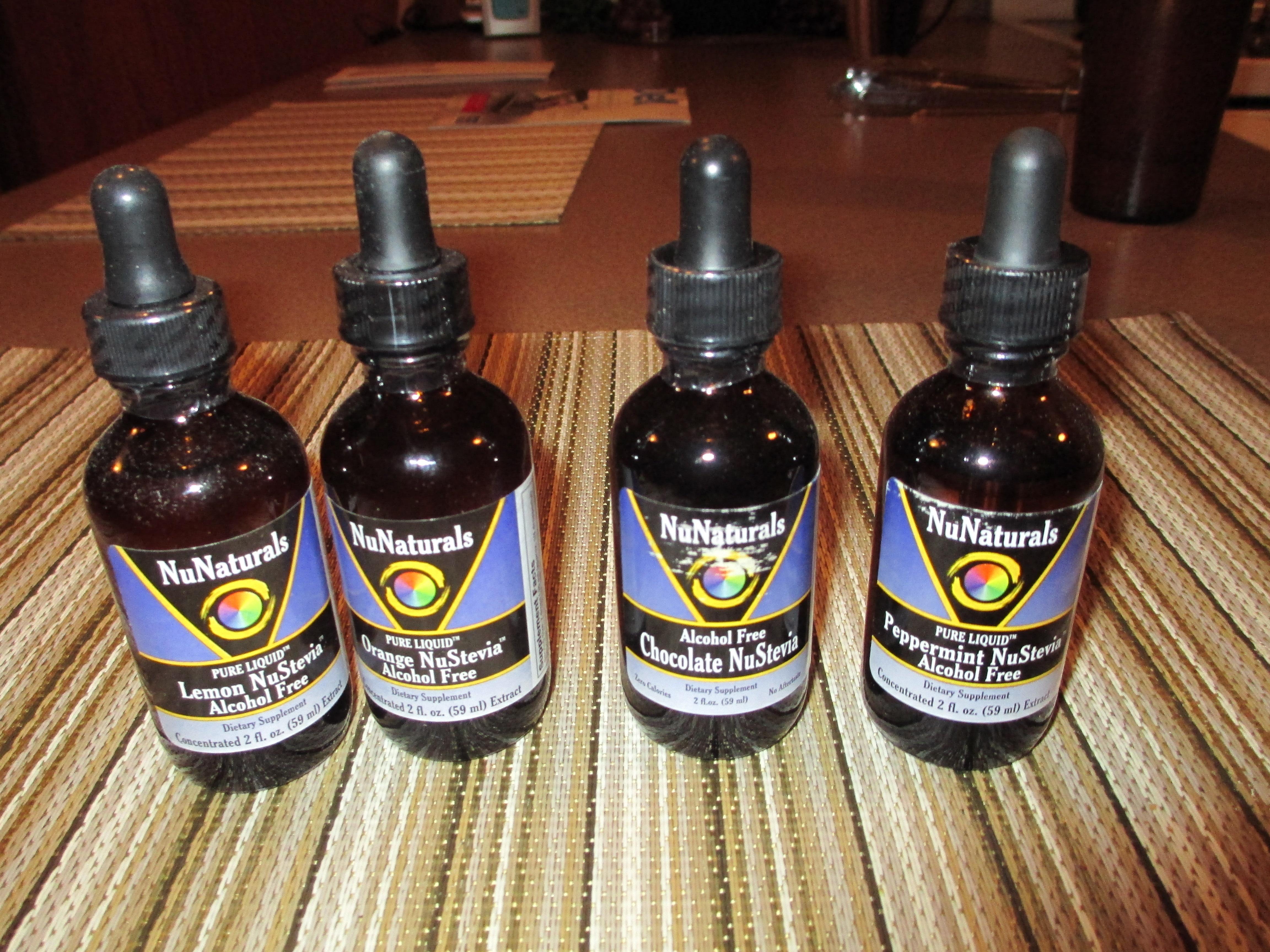 4 Bottles NuNaturals Liquid Stevia