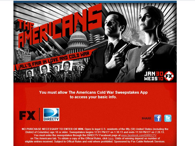 The Americans Cold War Sweepstakes