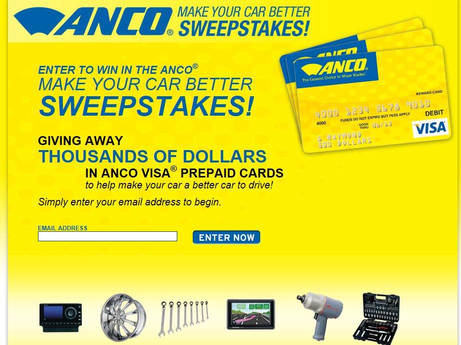 Anco Make Your Car Better Sweepstakes