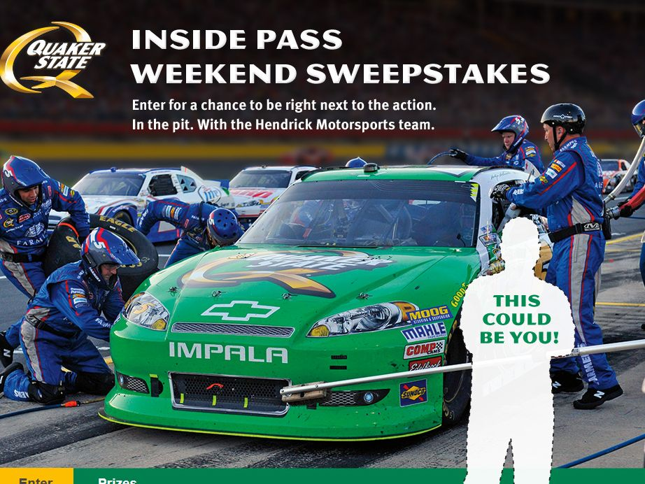 2013 Quaker State Inside Pass Weekend Sweepstakes