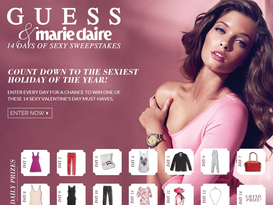 Guess and Marie Claire 14 Days of Sexy Sweepstakes