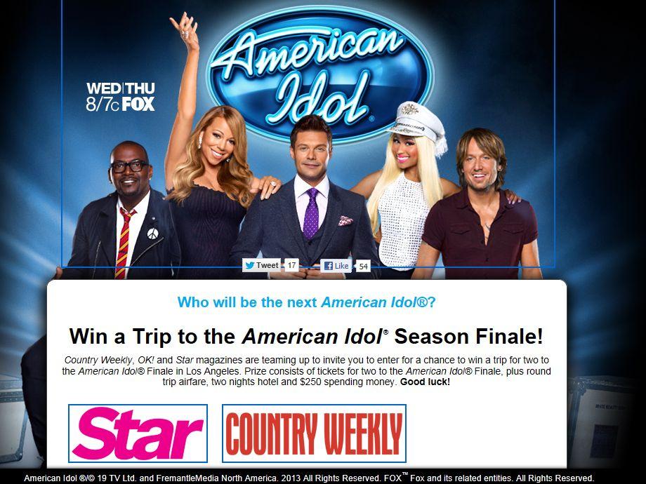 American Idol Sweepstakes