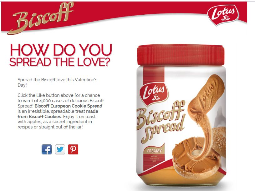 Biscoff Spread, Share & Love Giveaway Sweepstakes