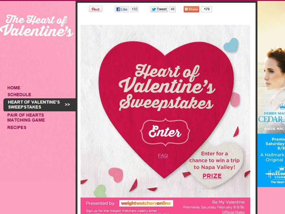 Hallmark's Heart of Valentine's Day Sweepstakes