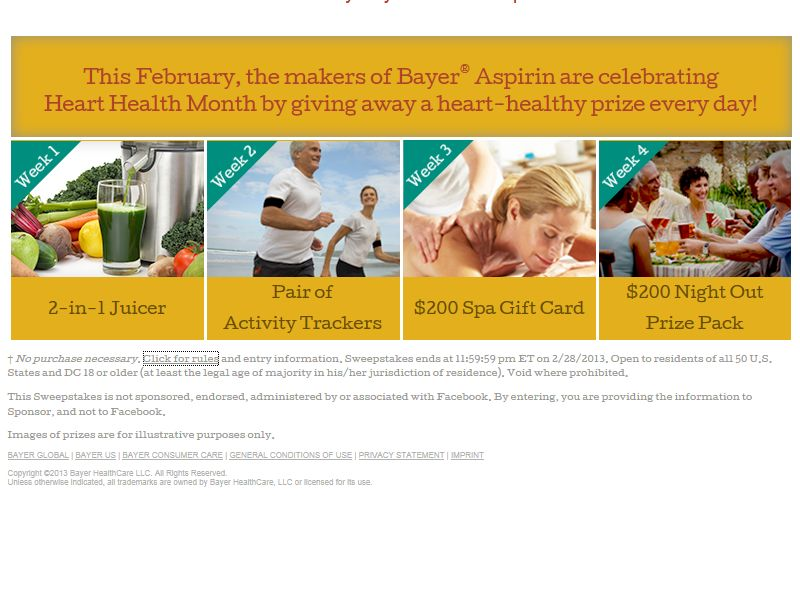 Bayer Aspirin Every Day is a Gift Giveaway Sweepstakes