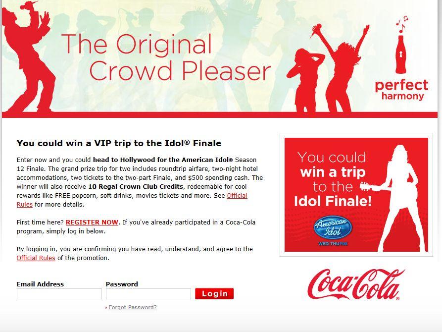 Coca-Cola Regal Crown Club American Idol Sweepstakes