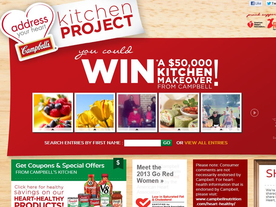 Campbell\'s Address Your Heart Kitchen Project Sweepstakes
