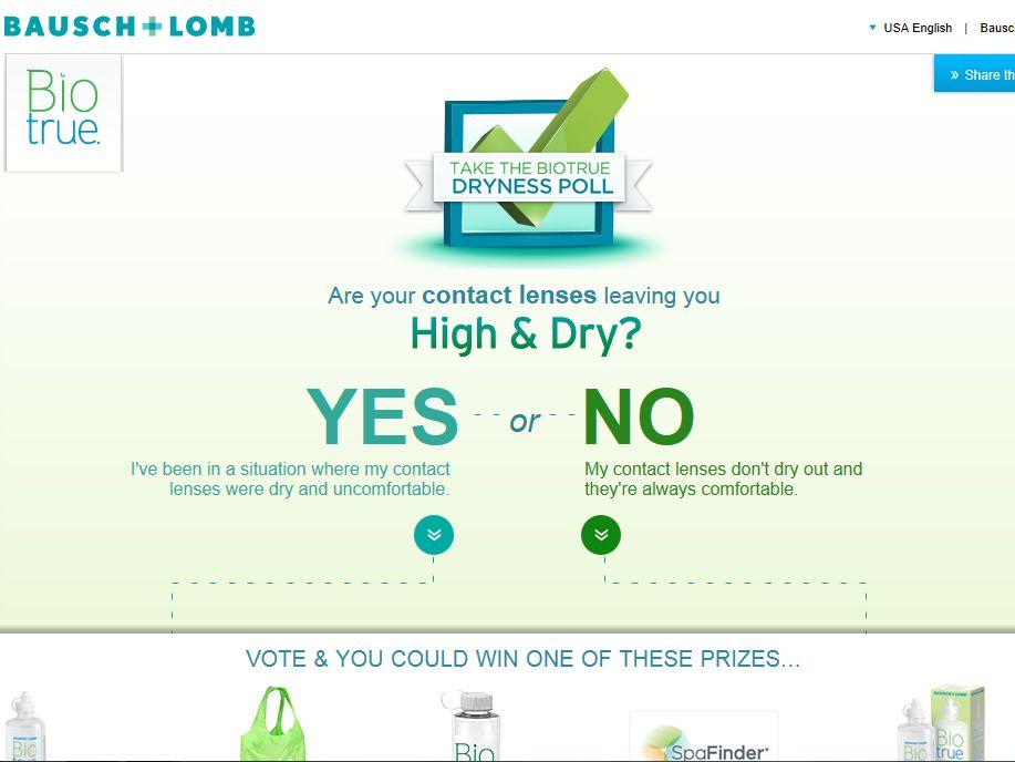 Biotrue Dryness Poll Instant Win Game