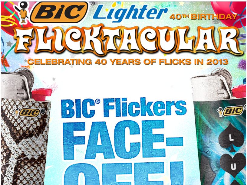 BIC Pocket Lighter Flickers Face-Off Sweepstakes