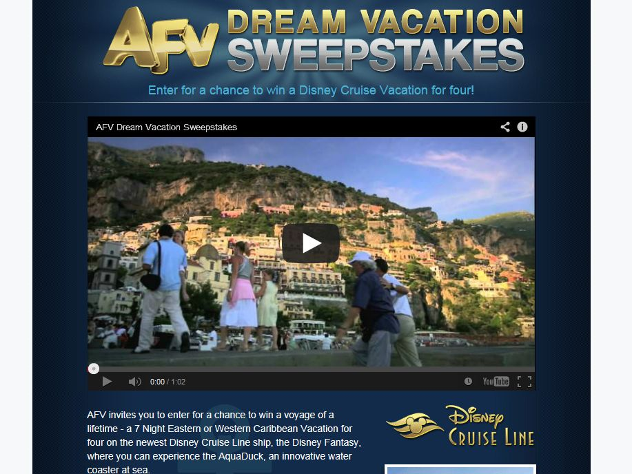 AFV Dream Vacation Sweepstakes
