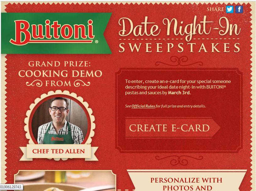 Buitoni Date Night-In Sweepstakes