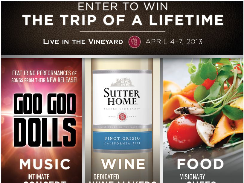 Live in the Vineyard Sweepstakes