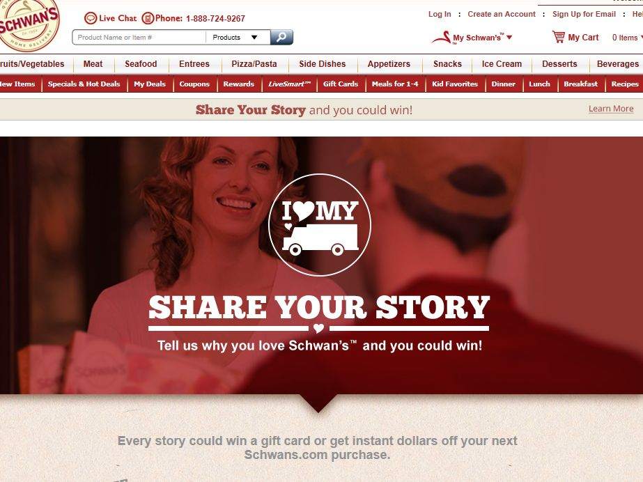 Share Your Schwan's Story Instant Win Game