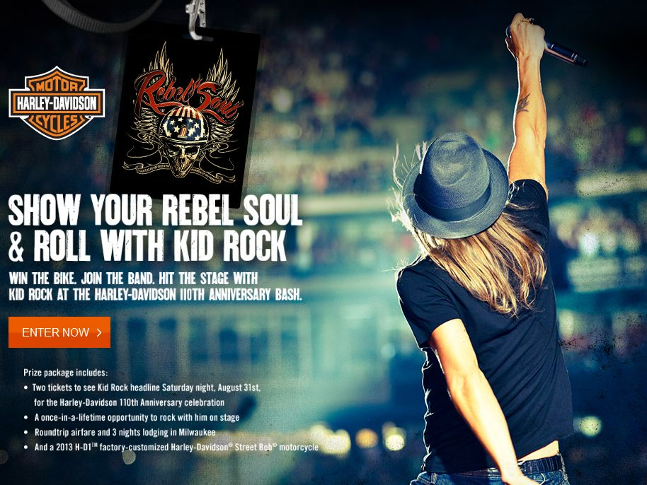 """Harley-Davidson's """"Rebel Soul"""" Contest"""